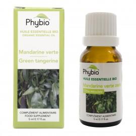 Mandarine verte zeste Huile essentielle PHYBIO - Fl  5  ml